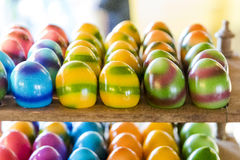 Several easter eggs prepared for sale Royalty Free Stock Images