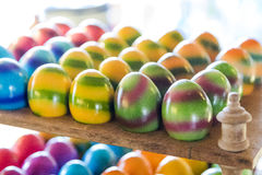 Several easter eggs prepared for sale Royalty Free Stock Photos
