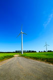 Several eco-friendly wind turbines Stock Photography