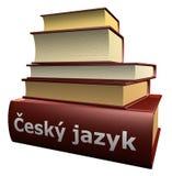 Several education books - �eský jazyk Royalty Free Stock Photos