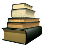 Several education books stock image