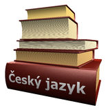 Several education books - český jazyk Royalty Free Stock Photos
