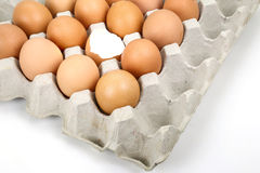Several eggs and eggshell Royalty Free Stock Photography