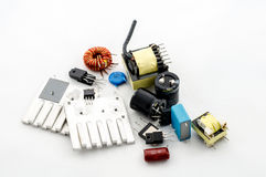 Several electric parts Stock Image