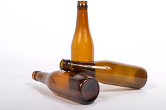 Several empty glass bottle Stock Photo