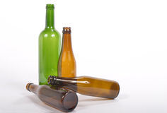 Several empty glass bottle Royalty Free Stock Photo