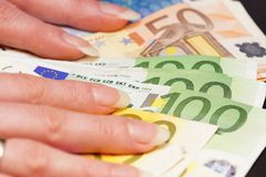 Several Euro Banknotes Stock Photos