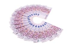 Several 500 euro banknotes Royalty Free Stock Images