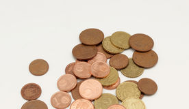 Several euro coins Royalty Free Stock Image