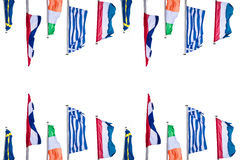 Several Europe countries flags Royalty Free Stock Image
