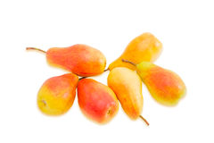 Several European pears on a light background Royalty Free Stock Image