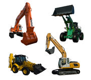 Several excavators Stock Photo