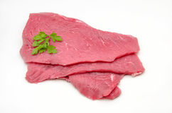 Several fillets of beef. On white background Stock Photography
