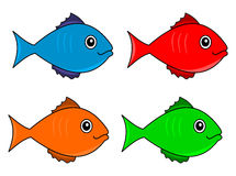 Several fish color serial Royalty Free Stock Image