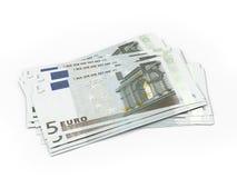 Several five Euro bills Stock Image