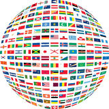 Several flags in a circle. vector illustration
