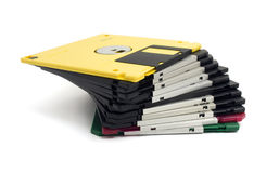 Several floppy disks. Several colored floppy disks isolated Stock Photography