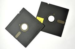Several floppy disks on a white background royalty free stock photo