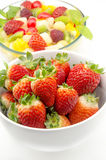 Several fresh strawberries Stock Photos