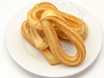 Several fried churros Royalty Free Stock Photography