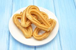 Several fried churros Royalty Free Stock Images