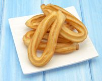 Several fried churros Stock Image