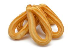 Several fried churros Stock Photography