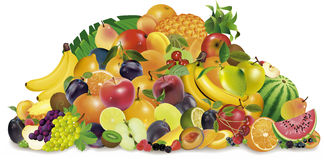 Several fruits Royalty Free Stock Photography