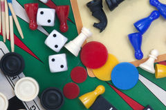 Several games on different boards Royalty Free Stock Images
