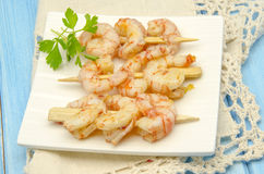 Several garlic shrimp Stock Images