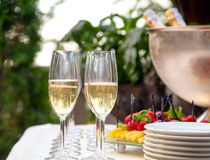 Several glasses of champagne. Royalty Free Stock Image