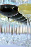 Several glasses of red wine Royalty Free Stock Images