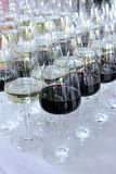 Several glasses of red wine Stock Photo