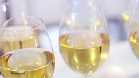 Several glasses of wine Royalty Free Stock Images