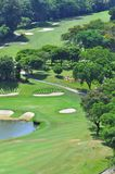 Golf Course in Penang Malaysia. Several golfer putting at the calmly beautiful Bukit Jambul Golf Course in Penang Malaysia Royalty Free Stock Photo