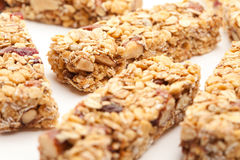 Several Granola Bars Isolated on White stock image