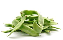 Several green beans Stock Photo