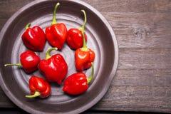 Several habanero chilli fruit Stock Photo