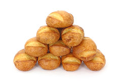Several hard bread rolls Stock Photography