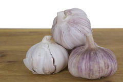 Several heads of garlic Stock Photography