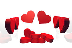 Several hearts Stock Images