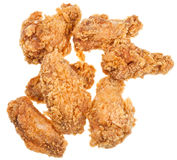 Several hot fried chicken wings Royalty Free Stock Images