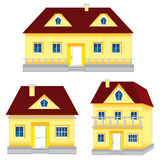Several houses Royalty Free Stock Image