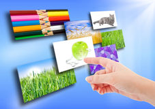 Several images on background Royalty Free Stock Image