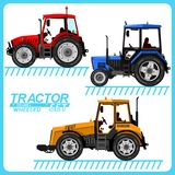 Several images of tractors. vector illustration