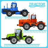 Several images of tractors. Several images of tractors, located on separate layers, for use in various purposes Royalty Free Stock Photos