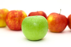 Several isolated apples Stock Photos