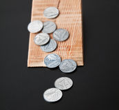 Several Italian coins Royalty Free Stock Photo
