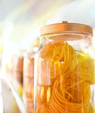 Several jars with pasta Stock Image