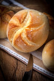 Several kaiser rolls. Royalty Free Stock Image